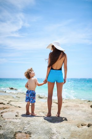Pembroke, Bermuda: Swim shorts for kids and Bermuda shorts for women.