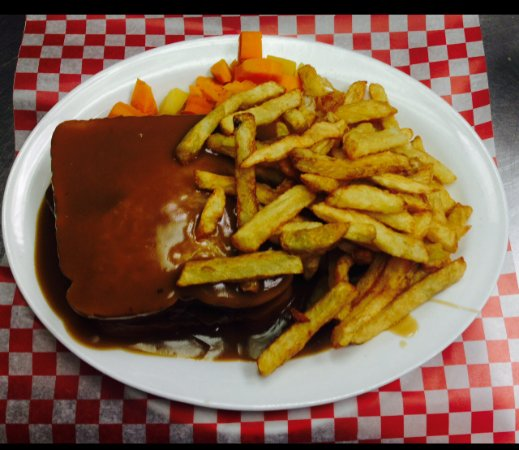 Miramichi, Canada: Hot Hamburger with Betsy's homemade gravy