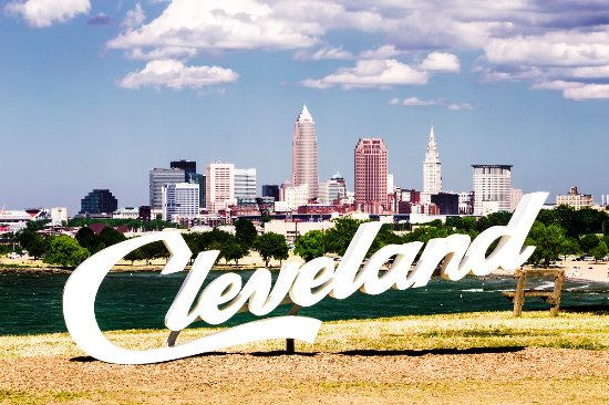 Cleveland Day Skyline
