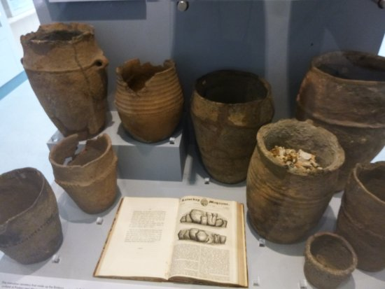 Dorchester, UK: Just a few urns found locally from Neolithic times.