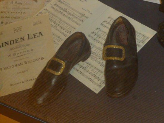 Dorchester, UK: Dorset Poet William Barnes's shoes .