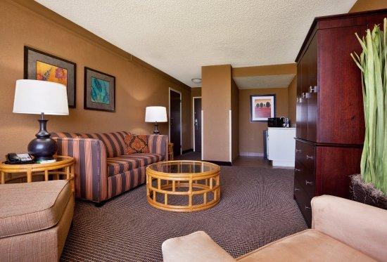 Strongsville, Огайо: Enjoy the comfort of the living area in the Presidential Suite.