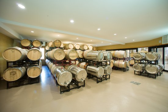 Chesapeake City, MD: Barrel Room inside the Winery