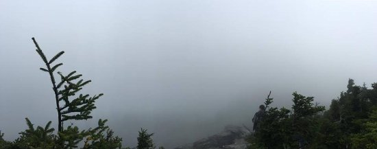Grandfather Mountain: Can barely see on our second day.