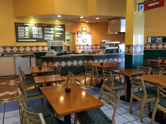Burnaby, Canada: Some of the tables and service counter.