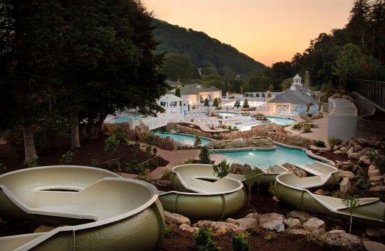 Hot Springs, VA: Water slides at Allegheny Springs