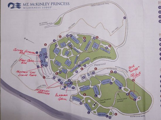 Trapper Creek, อลาสกา: Princess McKinley map