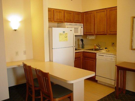 Aurora, IL: One Bedroom Suite- Kitchen Area
