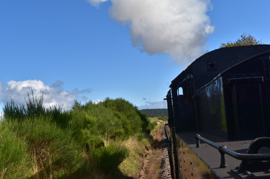 Aviemore, UK: A view of the engine from the carriage