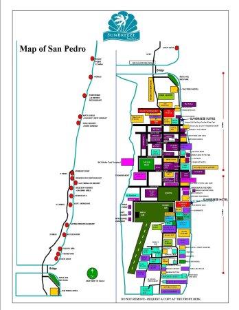 SunBreeze Hotel: San Pedro Town Map