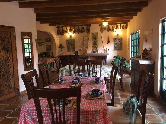 Casa Frida B&B: Me encantó esa sala interior de habitación y la cocina hermosa