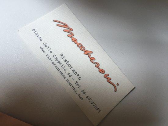 Ristorante Maccheroni: photo0.jpg