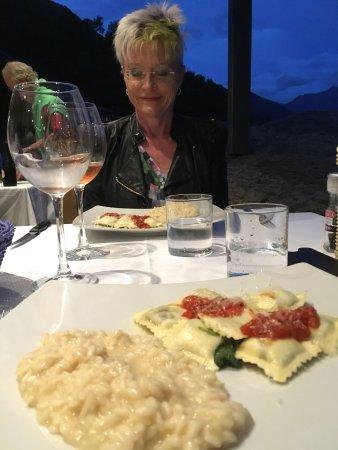 Домасо, Италия: Risotto und Ravioli