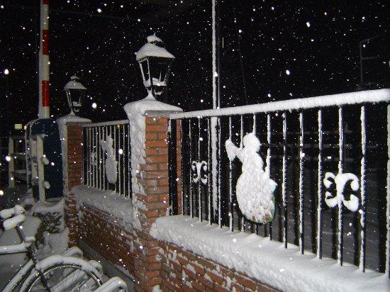 Vinkeveen, The Netherlands: ook in de winter is ons terras nuttig!