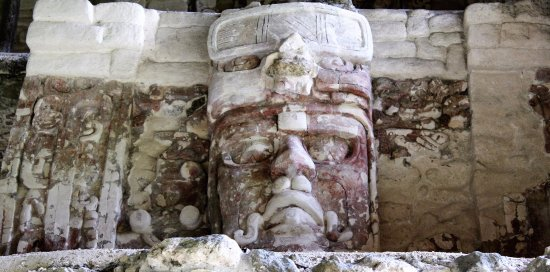 Quintana Roo, Mexico: Temple of the Masks. Kohunlich, Q. Roo, Mexico