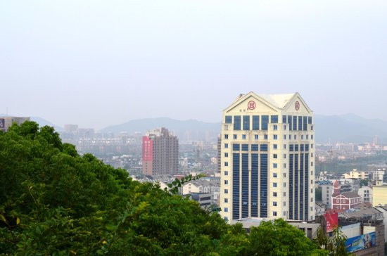 Yuyao, China: Longquan Mountain - view of the city