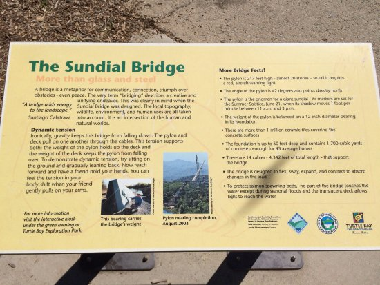 Sundial Bridge info