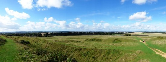 Blandford Forum, UK: Panoramic view from the inner ring.