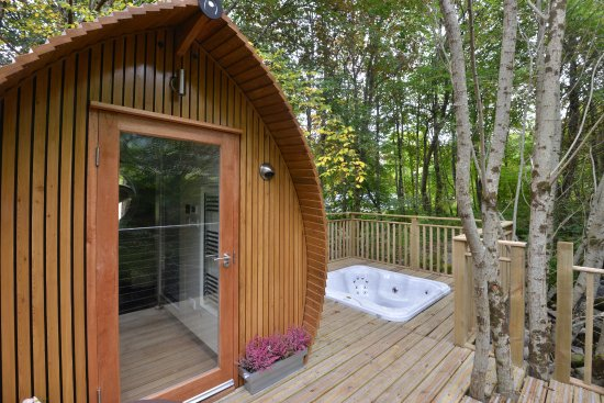 Luxury lodge with private hot tub near Fort William Picture of