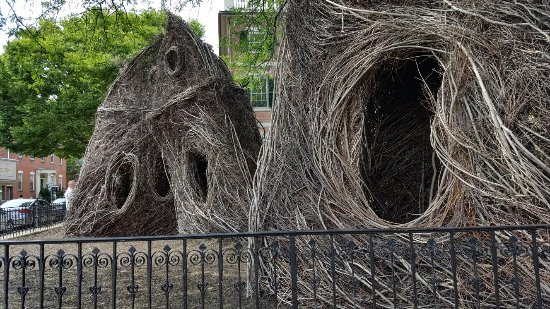 Stickworks Statue - What the Birds Know - by Patrick Dougherty
