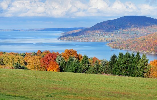 Finger Lakes, NY: Fall Foliage - County Road 12, Naples, NY