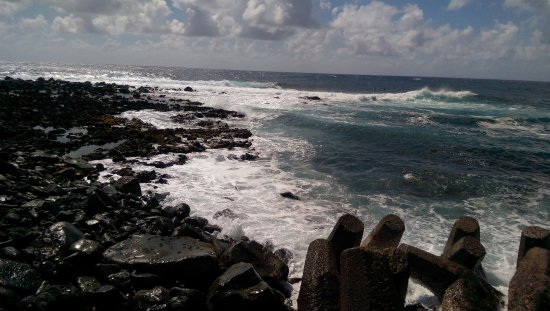 Pahoa, HI: You don't swim here (really) but there are easier places to access the warm water