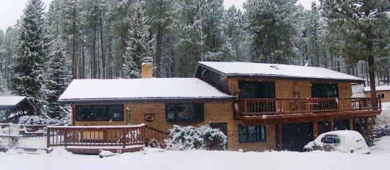 Elk Ridge Bed & Breakfast: New coating of snow.