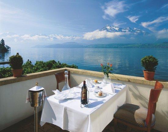 Hilterfingen, Szwajcaria: Lakeside Terrace