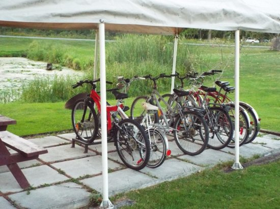 Misty Isles Lodge: bicycles available for guests at Misty Isles