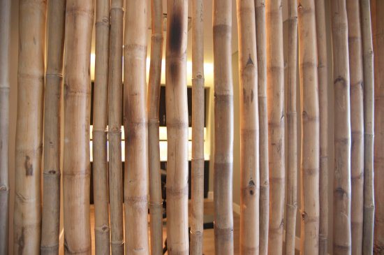 Wilton Manors, FL: Bamboo wall detail, the entire spa is an exercise in Zen simplicity.