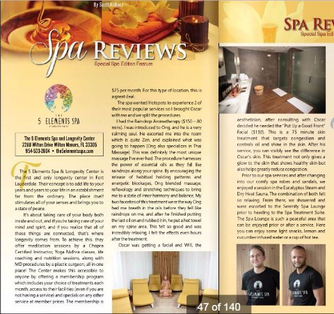 Wilton Manors, FL: Spa Review in HotSpots Magazine September 2016
