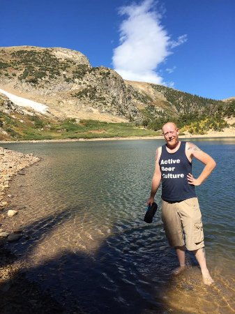Idaho Springs, CO: Had to stand in the freezing water, just because.
