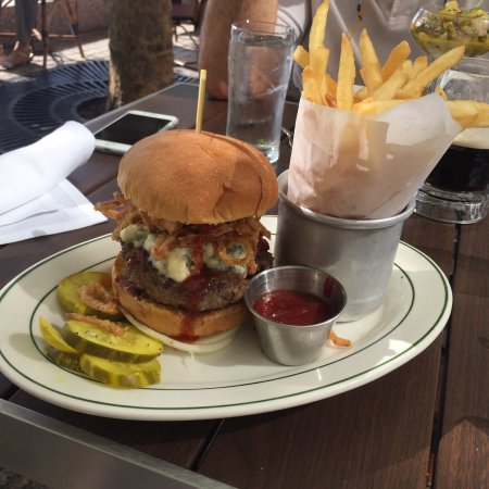 oysters and wagyu burger at the hudson review of p j clarke s on the hudson new york city ny tripadvisor
