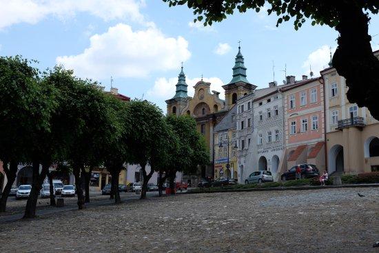 Skhodnitsa, Ucrania: Rynok square of Przemysl