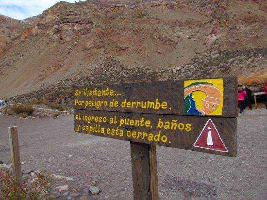 Las Cuevas, Argentyna: Puente del Inca
