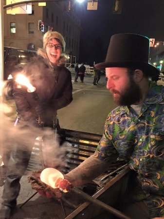 Garden City, ID: New Years Glassblowing downtown Boise with Zion Warne