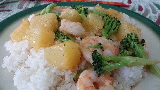 Woodstock, Canada: Pineapple Shrimp.