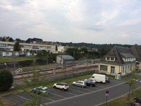 Saint-Lo, France : Vue sur la gare