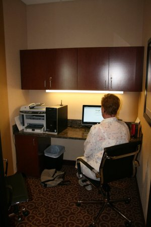 Hampton Inn Elkhorn: Business Center