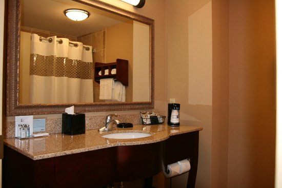 Hampton Inn Elkhorn Lake Geneva Area : Guestroom Bathroom