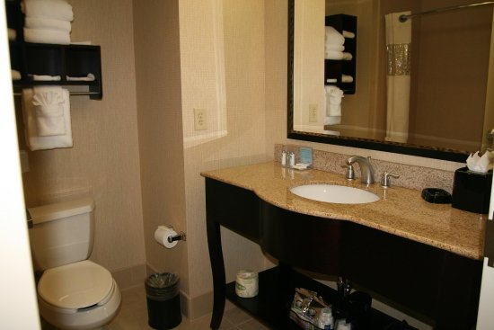 Hampton Inn North Brunswick/New Brunswick: 2 Queen Beds Bathroom