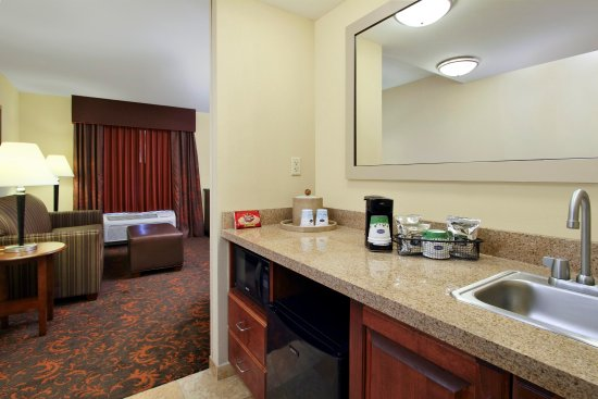 Hampton Inn Exmore Suites with microwave and sink