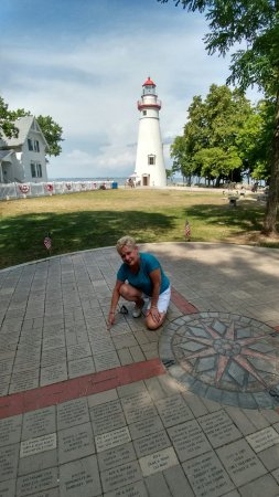 Marblehead lighthouse recently added memorial stones.