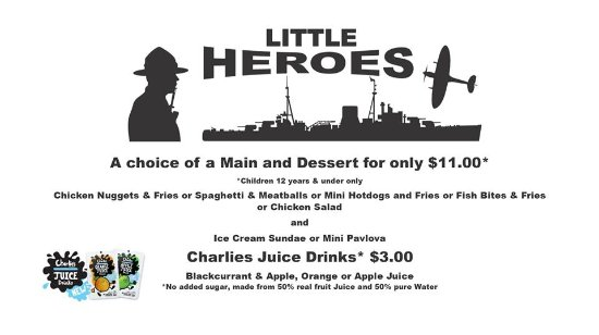 Whangaparaoa, Nova Zelândia: LITTLE HEROES Children's Menu