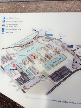 map of dock Picture of Gloucester Docks Gloucester TripAdvisor
