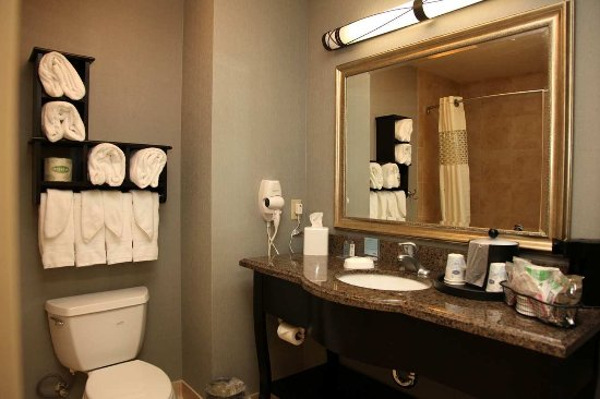 Hampton Inn & Suites Carlsbad: 2 Queen Beds Bathroom