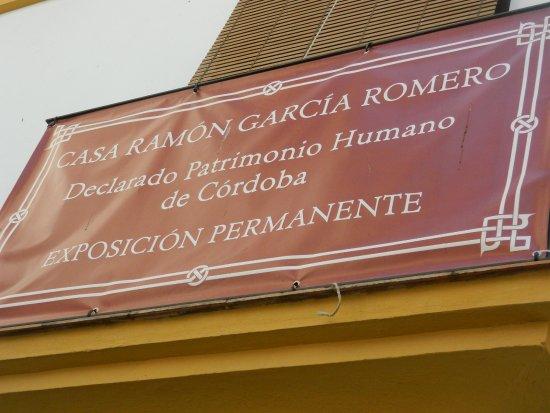Museo Casa Ramón García Romero: Cartel informativo
