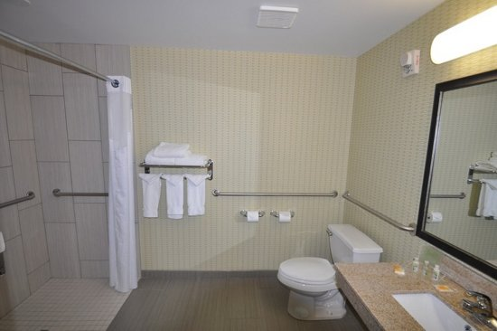 Sherwood Park, Kanada: King Accessible Roll-In Shower Guest Room