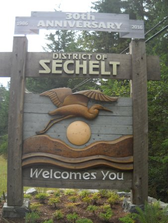 Sechelt on the Sunshine Coast BC!