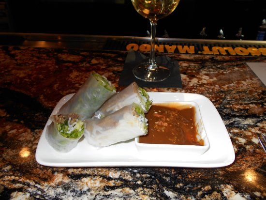 Saigon Kitchen: 5 different kinds of spring rolls but the marinated pork are my favorite with peanut sauce.